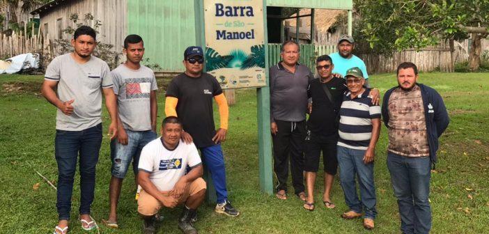 Vice Prefeito Valmar Kaba visitar barra de São Manoel