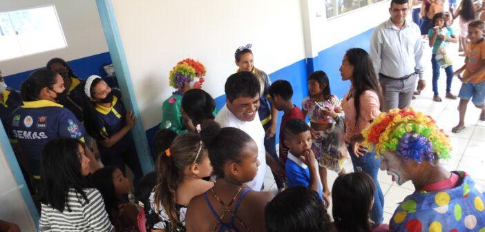 A Prefeitura de Jacareacanga, através da SEMAS , comemora o   dia das crianças.
